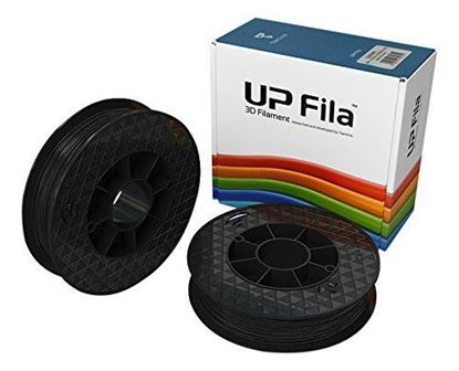 Picture of UP Fila ABS Plastic Filament, Zwart 2 x 500 g Rol (2 stuks)
